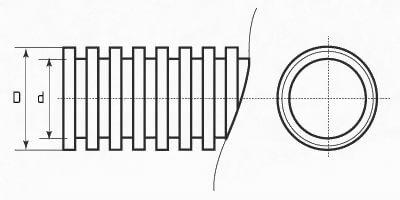 Гофра автомобильная разрезная чертеж