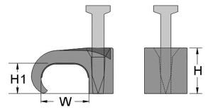 Клипса для плоского кабеля с гвоздем