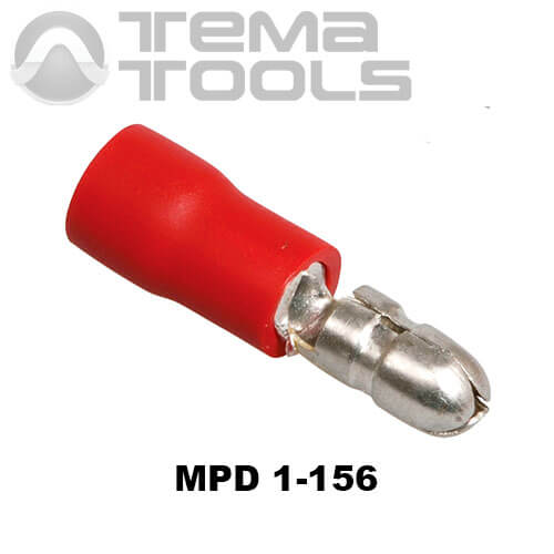 Коннектор круглый с изоляцией MPD 1-156 папа