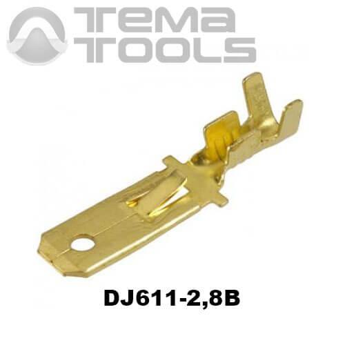 Коннектор плоский разрезной DJ611-2,8В папа