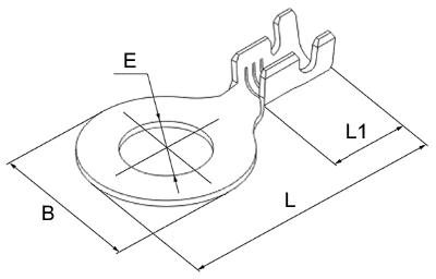 Наконечник разрезной кольцевой DJ431 чертеж