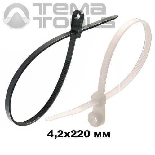 Стяжка кабельная с кольцом 4,2х220 мм