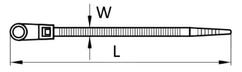 Кабельная стяжка с кольцом чертеж