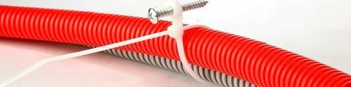 Применение кабельной стяжки с кольцом