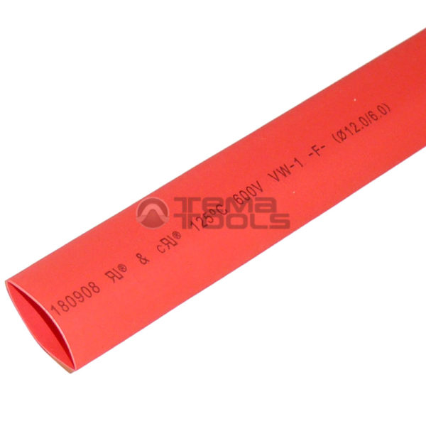 Термоусадочная трубка 2:1 12 мм красная