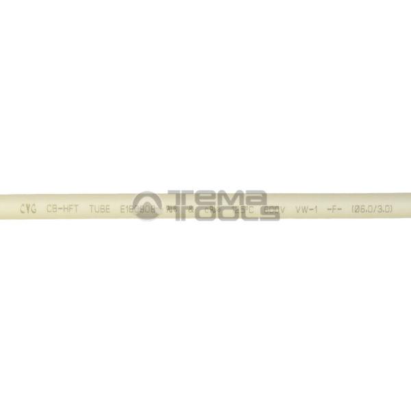 Термоусадочная трубка 2:1 6 мм белая (текст)