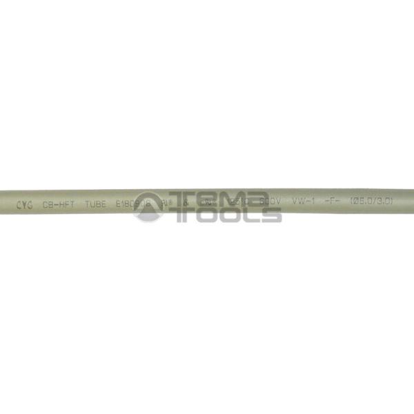 Термоусадочная трубка 2:1 6 мм серая (текст)