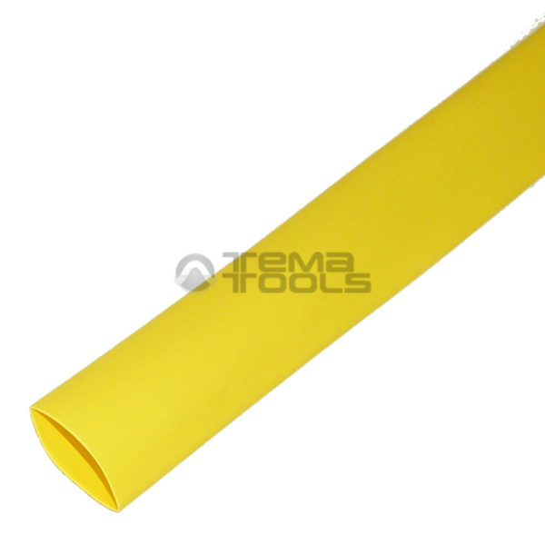 Термоусадочная трубка 2:1 20 мм желтая