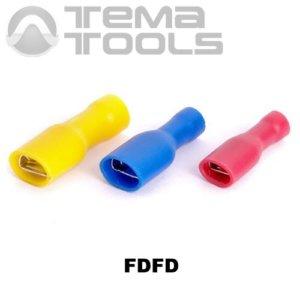 Клеммы плоские полностью изолированные FDFD