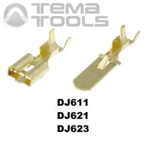 Коннекторы плоские разрезные без изоляции DJ611, DJ621 и DJ623