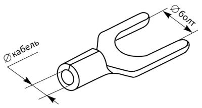 Разрезной кабельный наконечник без изоляции SNB чертеж