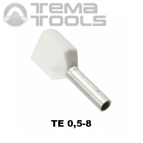 Наконечник втулочный двойной изолированный TE 0,5-8
