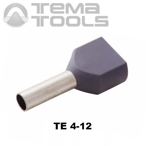 Наконечник втулочный двойной изолированный TE 4-12