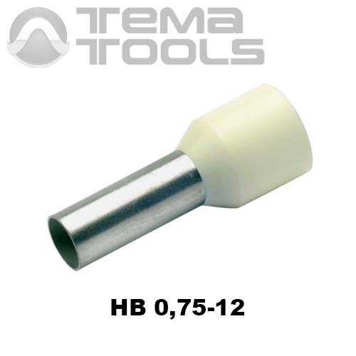 Наконечник втулочный изолированный HB 0,75-12