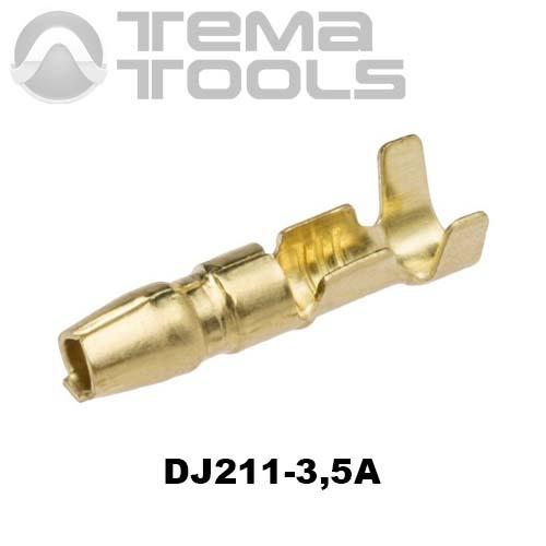Коннектор круглый разрезной DJ211-3,5A папа