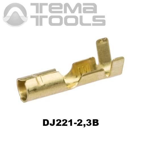 Коннектор круглый разрезной DJ221-2,3B мама