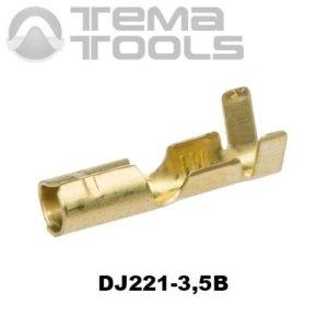 Коннектор круглый разрезной DJ221-3,5B мама