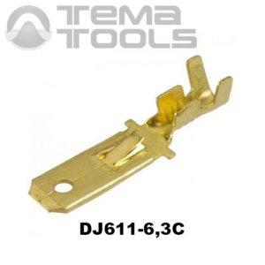 Коннектор плоский разрезной DJ611-6,3C папа