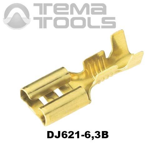 Коннектор плоский разрезной DJ621-6,3B 0,35 мм мама