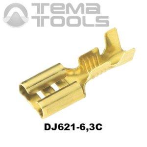 Коннектор плоский разрезной DJ621-6,3C 0,35 мм мама