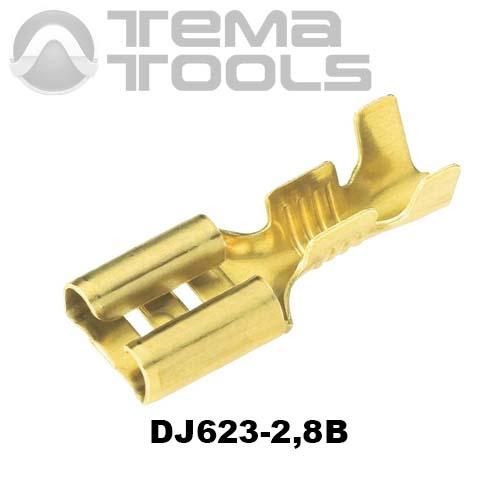 Коннектор плоский разрезной DJ623-2,8B мама