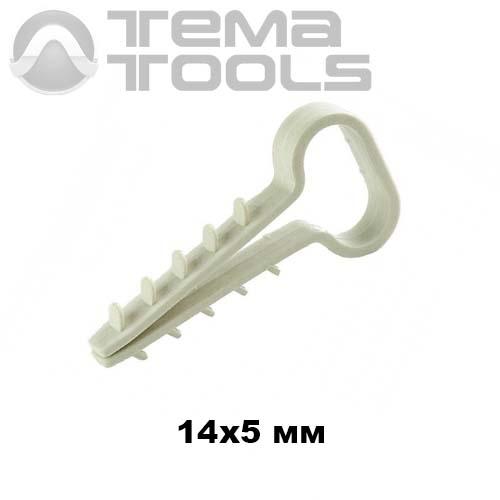 Крепеж дюбель елочка 4 (14x5 мм) для плоского кабеля