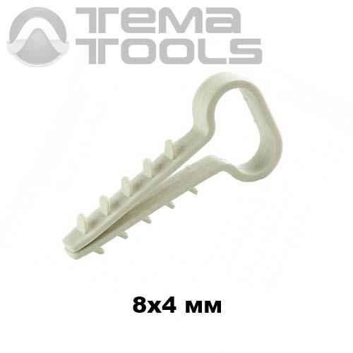 Крепеж дюбель елочка 1 (8x4 мм) для плоского кабеля