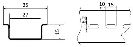 DIN рейка чертеж 15