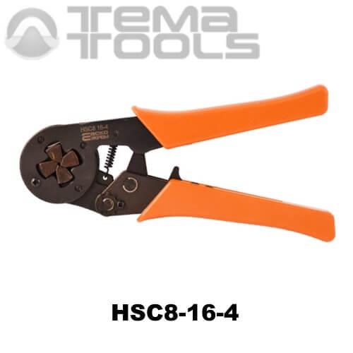 Кримпер пресс-клещи HSC8-16-4 (6-16 мм²) для обжима втулочных (трубчатых) наконечников