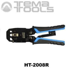 Инструмент (кримпер) для опрессовки компьютерных наконечников HT-2008R (RJ45, RJ11 и RJ12)