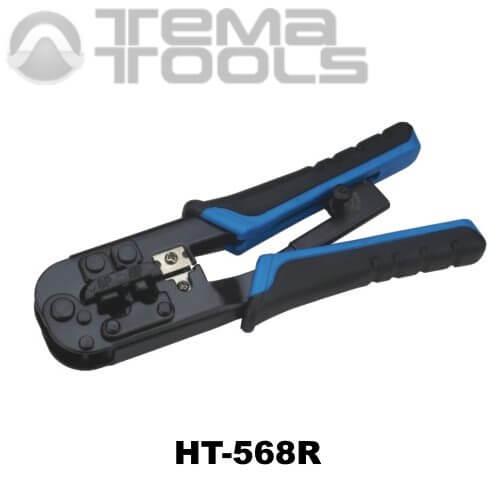 Инструмент (кримпер) для обжима компьютерных наконечников HT-568R (RJ45 и RJ12)