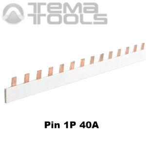 Шина соединительная Pin 1P 40А 1м