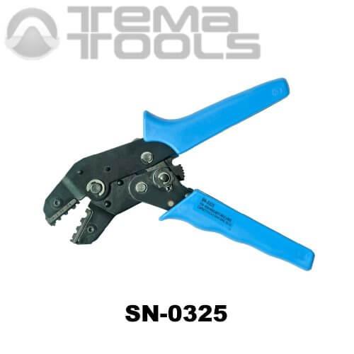 Инструмент опрессовочный SN-0325 (0.5-2.5 мм²) ручной для неизолированных наконечников