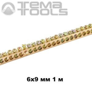 Шина нулевая 6x9 мм 1 м