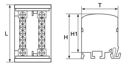 Шина нулевая в пластиковом корпусе (кросс-модули) TTC 2 шины чертеж