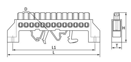 шина нулевая в изоляторе HCD чертеж