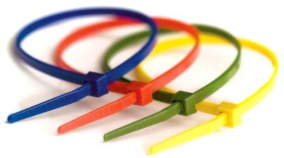Цветные кабельные стяжки с замком