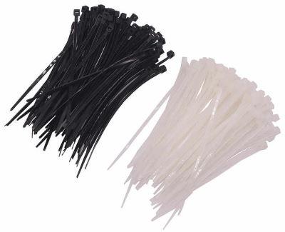 Кабельные стяжки белые и черные