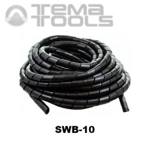 Спиральная обвязка для проводов SWB-10 черная