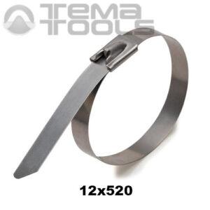 Стяжка металлическая кабельная 12x520 мм