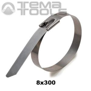 Стяжка металлическая кабельная 8x300 мм