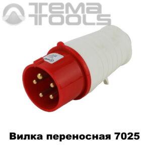 Вилка силовая переносная 7025 3P+N+E 32А 380В IP44 красная
