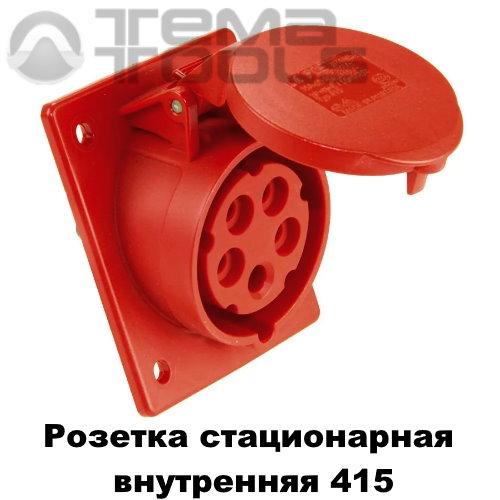 Розетка силовая стационарная внутренняя 415 3P+N+E 16А 380В IP44 красная