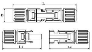 Коннектор mc4 чертеж