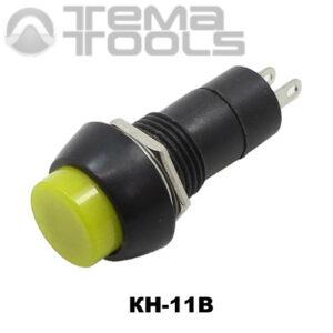 Кнопка нажимная КН-11В без фиксации с желтой круглой клавишей