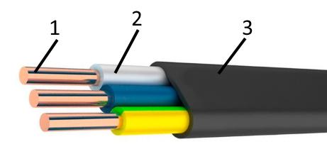Конструкция кабеля ВВГПнгд