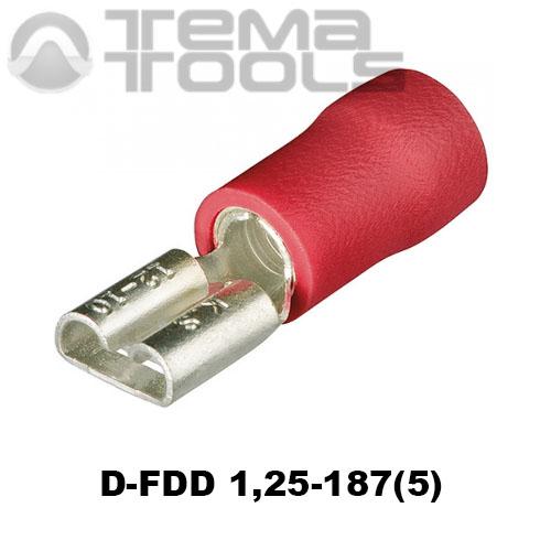 Разъем плоский виброустойчивый D-FDD 1,25-187(5) «мама»