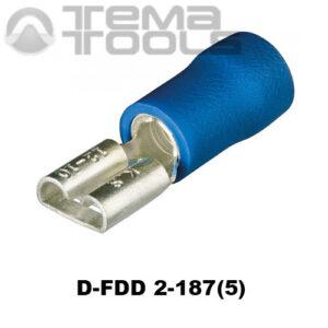 Разъем плоский виброустойчивый D-FDD 2-187(5) «мама»