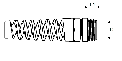 Кабельный ввод PG спиральный чертеж