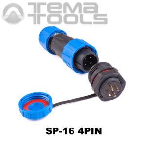 Герметичный разъем SP-16 4pin быстроразъемный